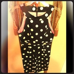 Eliza J polka dot dress